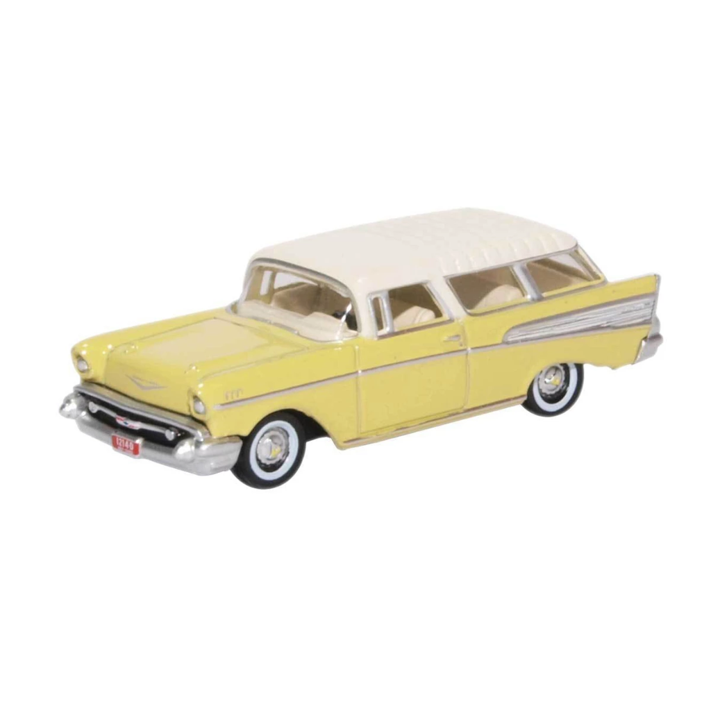 HO Scale: 1957 Chevrolet Nomad - Colonial Cream, India Ivory