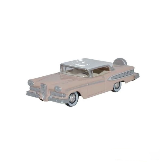 HO Scale: 1958 Ford Edsel Citation - Chalk Pink, Frost White