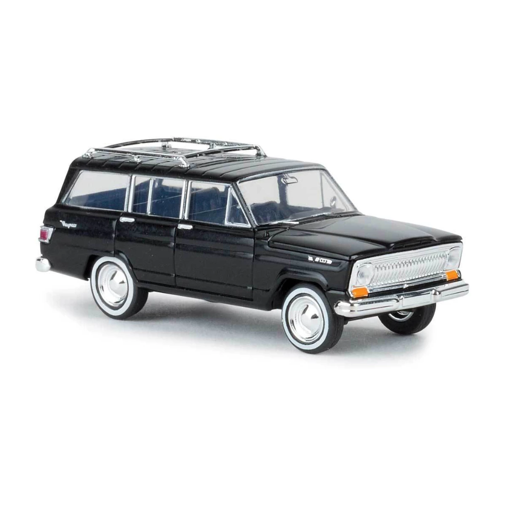 HO Scale: 1963 Jeep Wagoneer - Black
