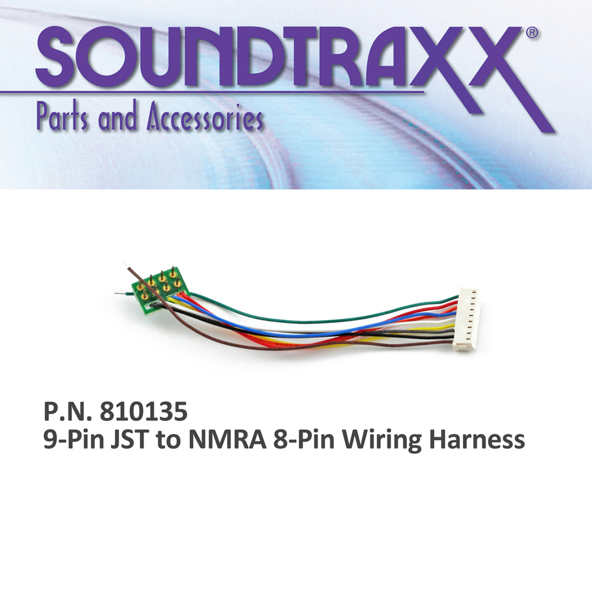 Wiring Harness: 9-Pin JST to NMRA 8-Pin