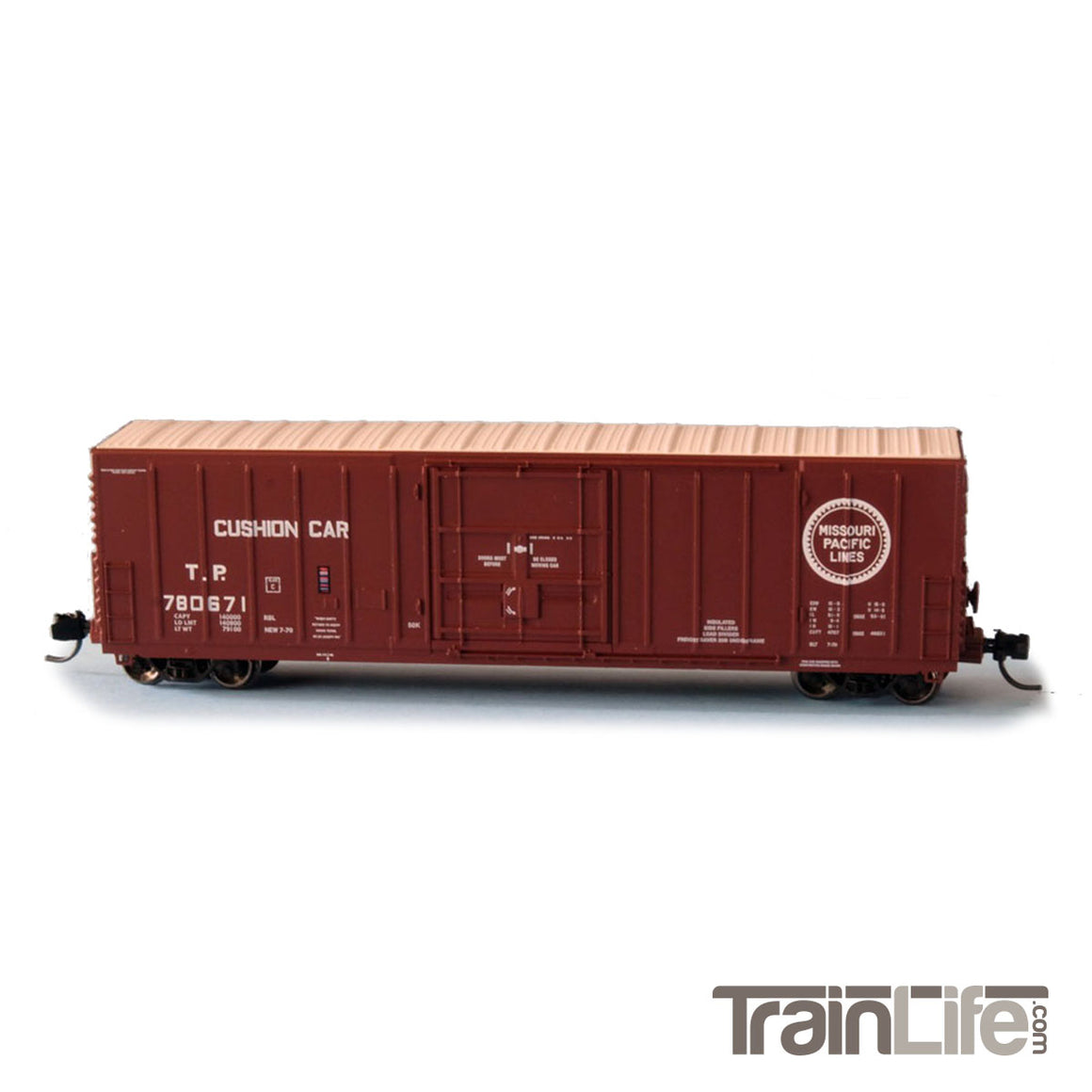 N Scale: PC&F 50' Exterior Post Insulated Boxcar - Texas & Pacific