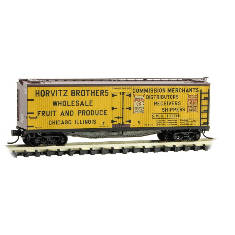 N Scale: 40' Double Sheathed Wood Reefer - Horvitz Bros. Wholesale