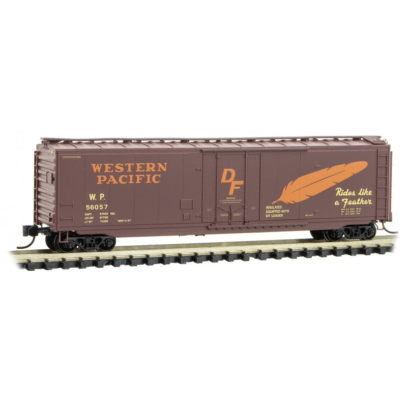 N Scale: 50' Standard Boxcar - Western Pacific
