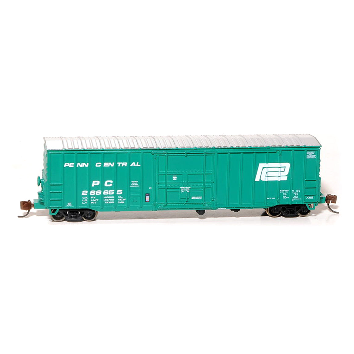 N Scale: Despatch Shops 50' Boxcar - Class X65 - Penn Central - Deepwater Green