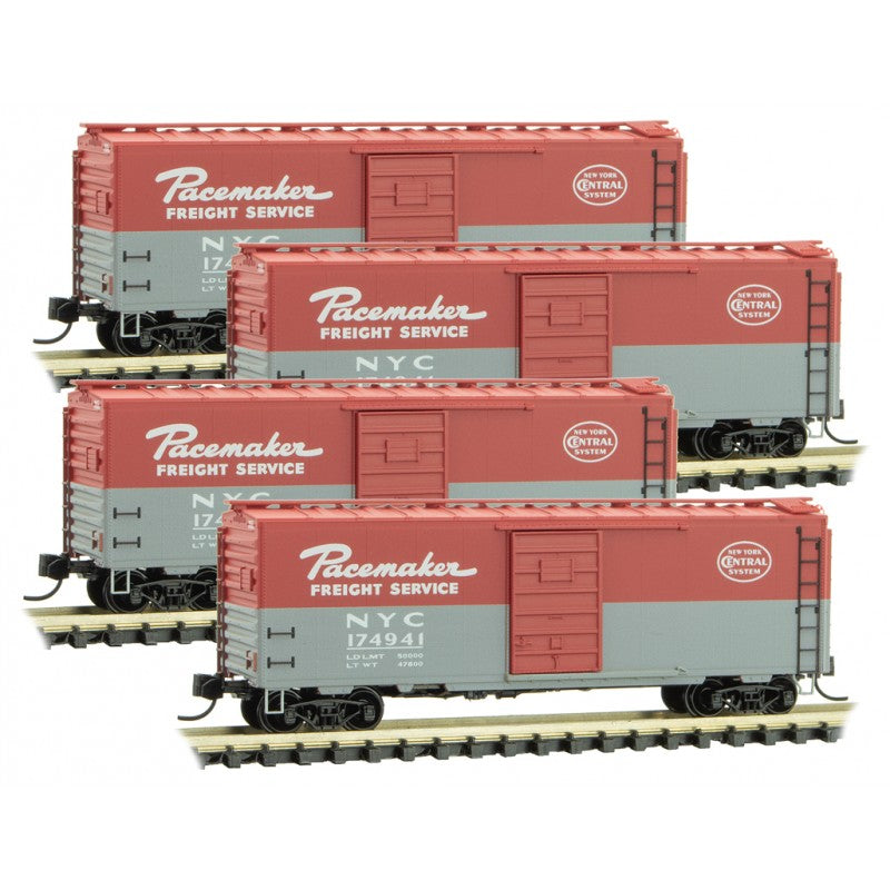 N Scale: 40' Standard Boxcar - New York Central - 4 Pack