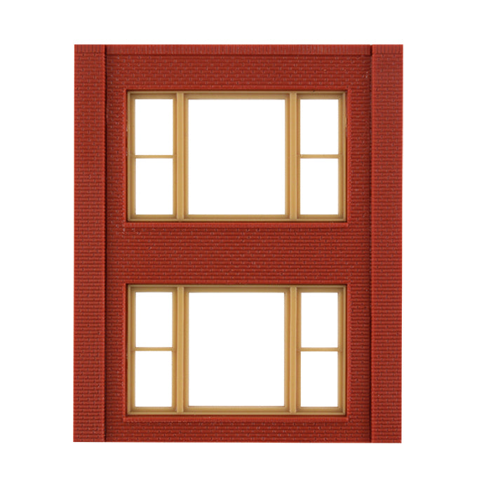 HO Scale: Modular Structures - Two-Story 20th Century Window Panels - Kit