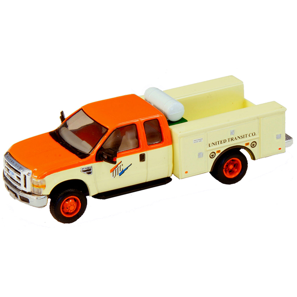 HO Scale: Lighted Ford F-450 Super Cab Fleet Service Truck - United Transit