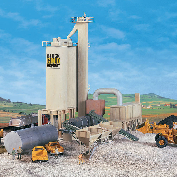 HO Scale: Black Gold Asphalt Hot Mix Plant - Kit