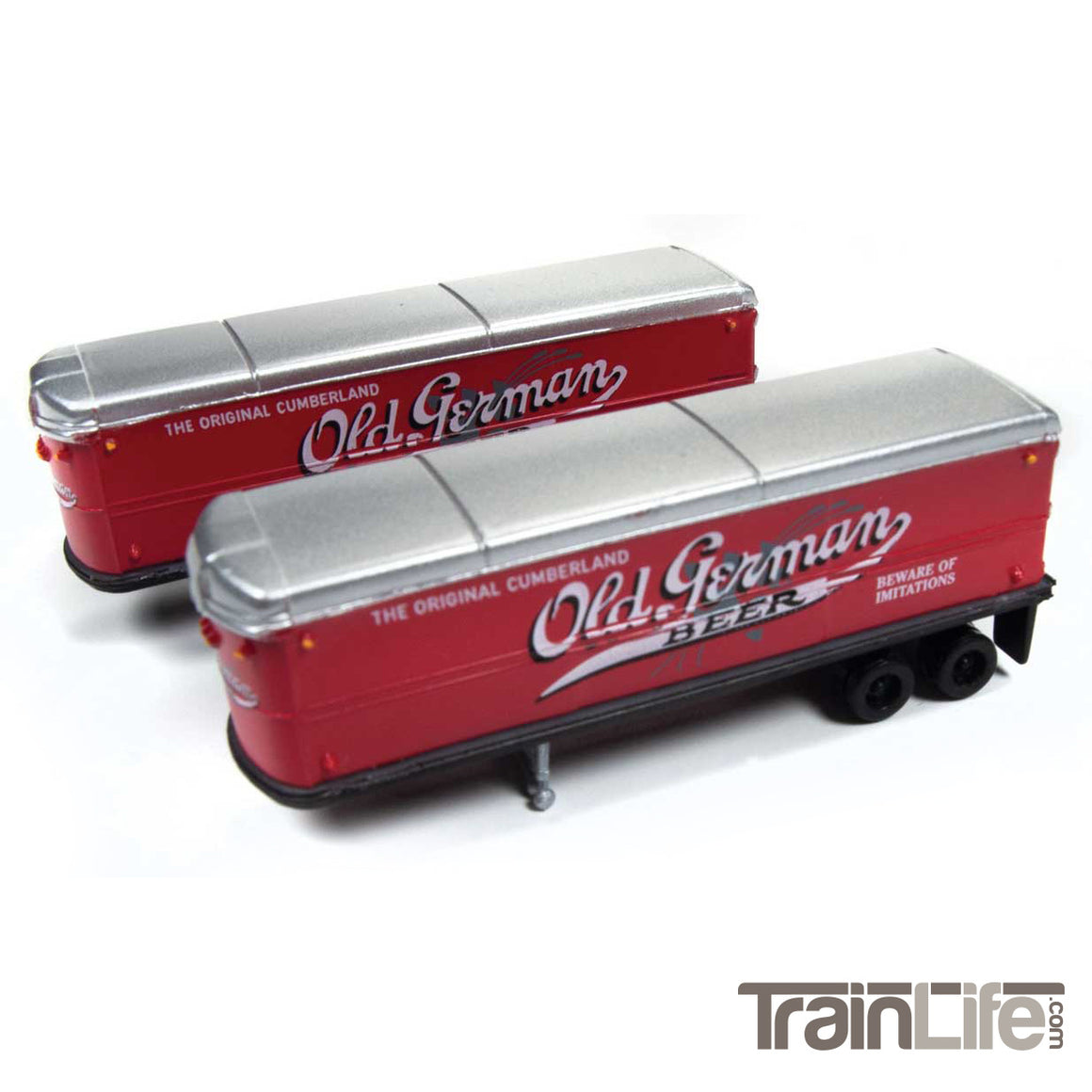 N Scale: Aerovan Trailer - Old German Beer - 2 Pack