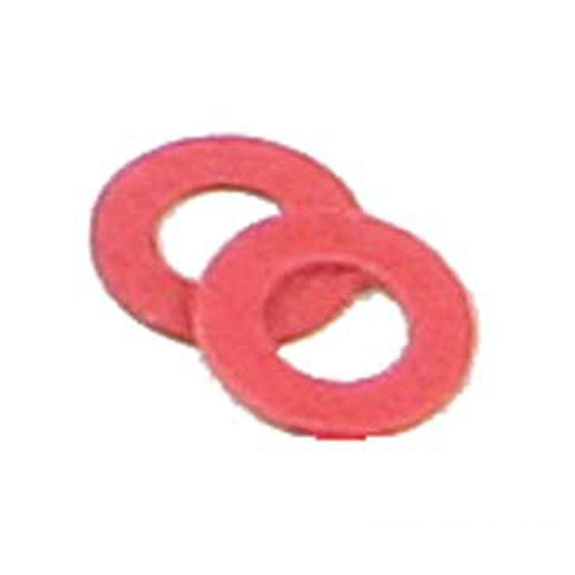 Red Insulating Fiber Washers - 48 Pack