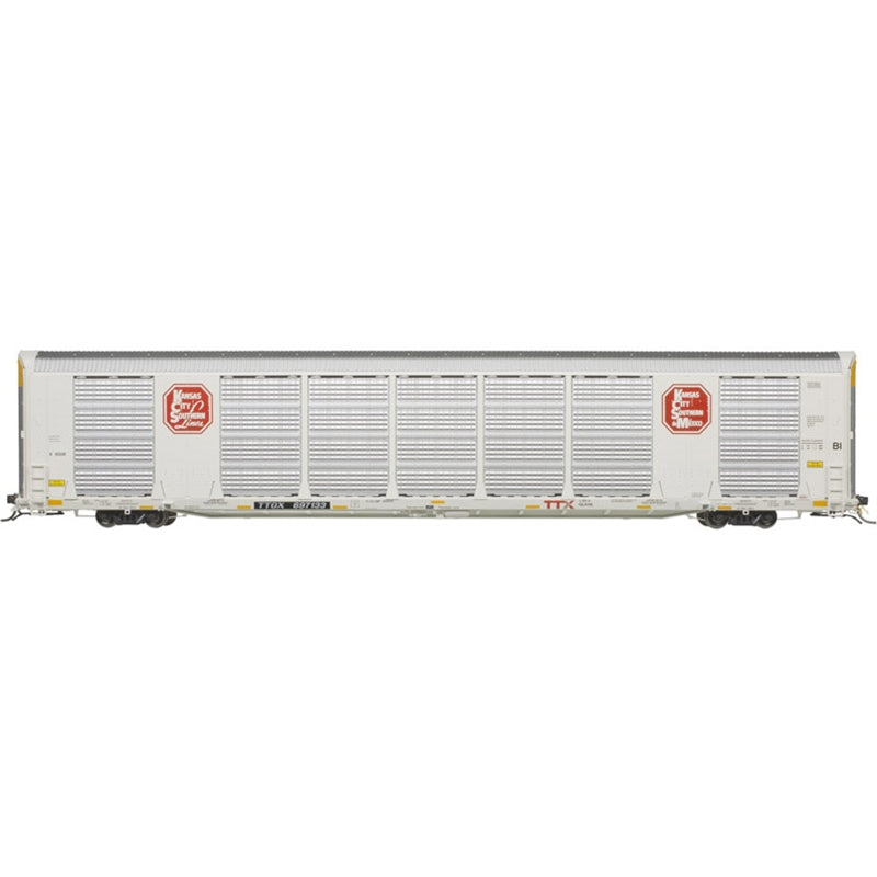HO Scale: Gunderson Multi-Max Enclosed Auto Rack - Kansas City Southern
