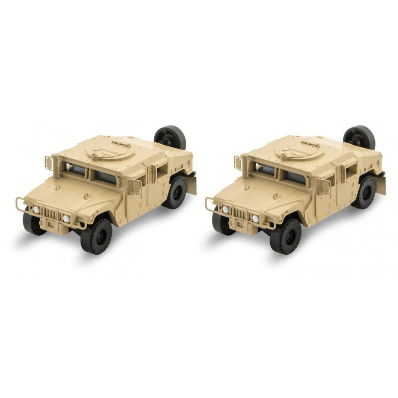 N Scale: Humvees - Tan - 2 Pack