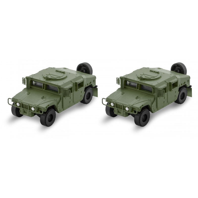 N Scale: Humvees - Olive Drab - 2 Pack