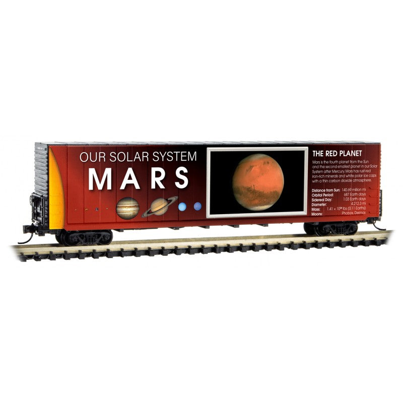 N Scale: 60' Excess Height Boxcar - Solar System Series - Mars