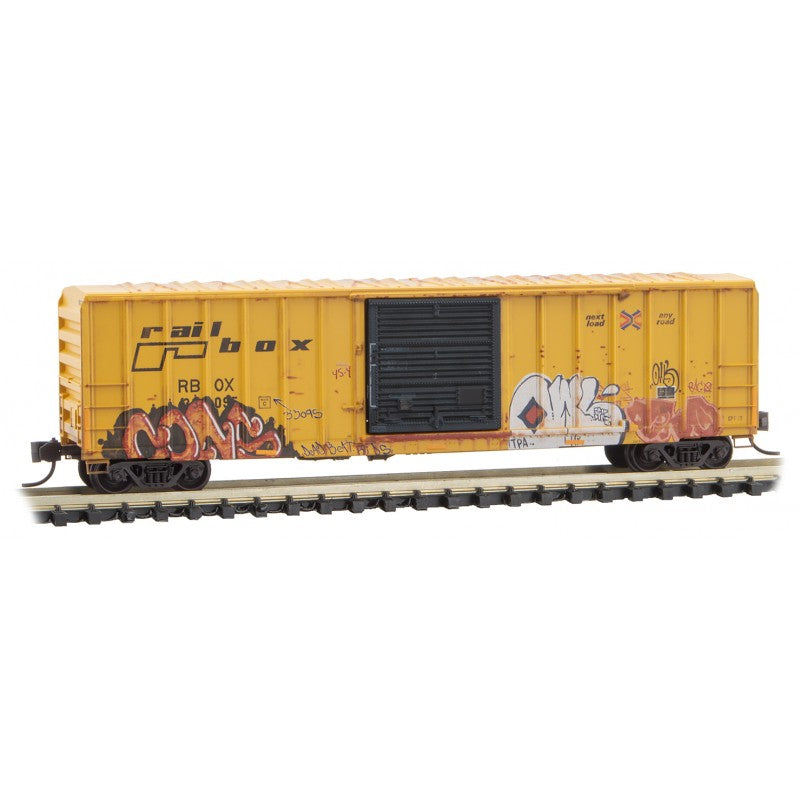 N Scale: 50' Rib Side Box Car - RBOX 'National Hunting Day'