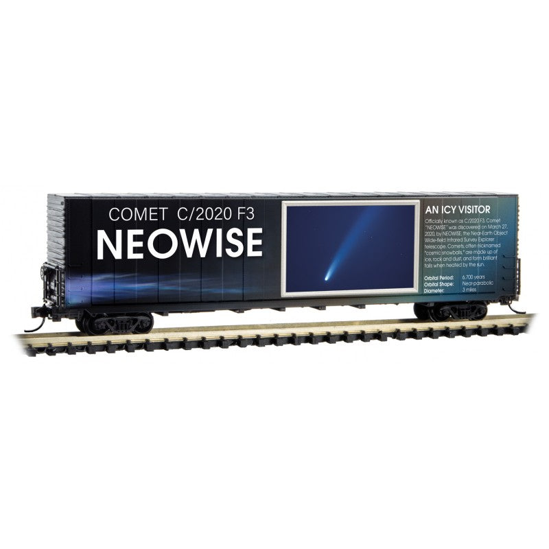 N Scale: 60' Excess Height Boxcar - Solar System Series - NEOWISE Comet