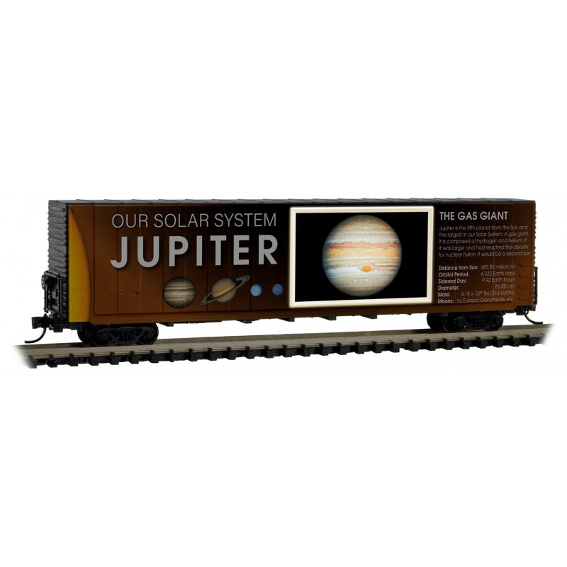 N Scale: 60' Excess Height Boxcar - Solar System Series - Jupiter