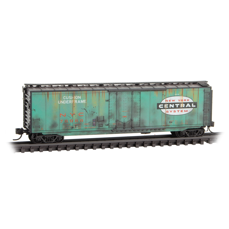 N Scale: 50' Standard Boxcar - New York Central 'Weathered'
