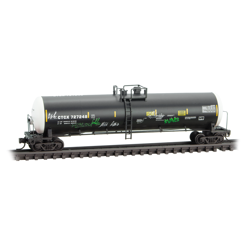N Scale: 56' General Service Tank Car - CTCX 'Graffiti' - 3 Pack
