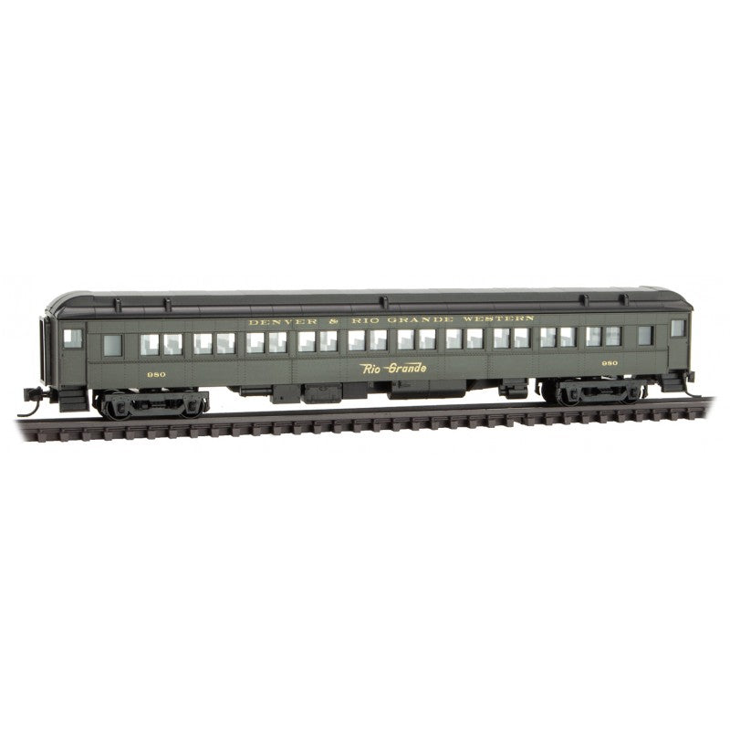 N Scale: 78' Heavyweight Paired-Window Coach - D&RGW