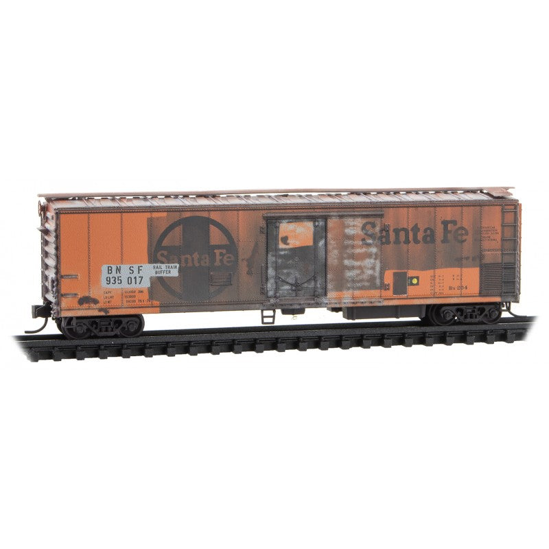 N Scale: 51' Mechanical Reefer 'Buffer Cars' - BNSF 'Weathered' - 2 Pack