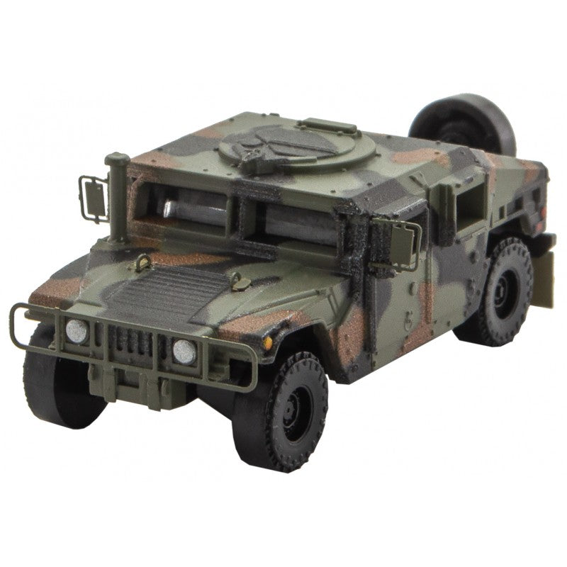 N Scale: Humvees - Woodland Camo - 2 Pack