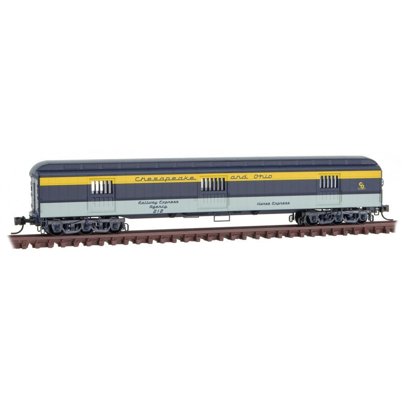 N Scale: 70' Heavyweight Horse Car - Chesapeake & Ohio
