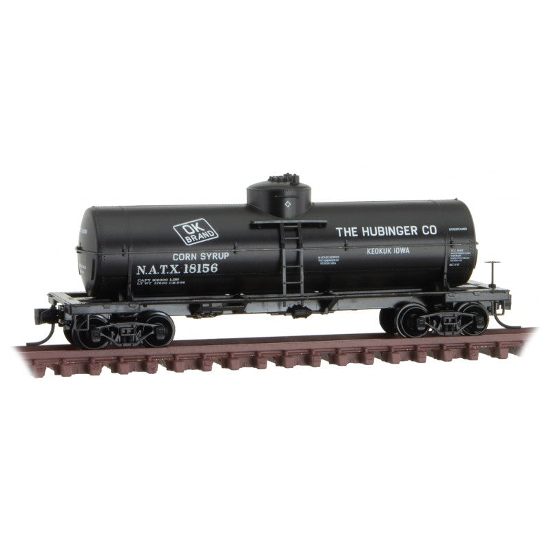 N Scale: 39' Single Dome Tank Car - Hubinger Co. 'Sweet Liquid #2'