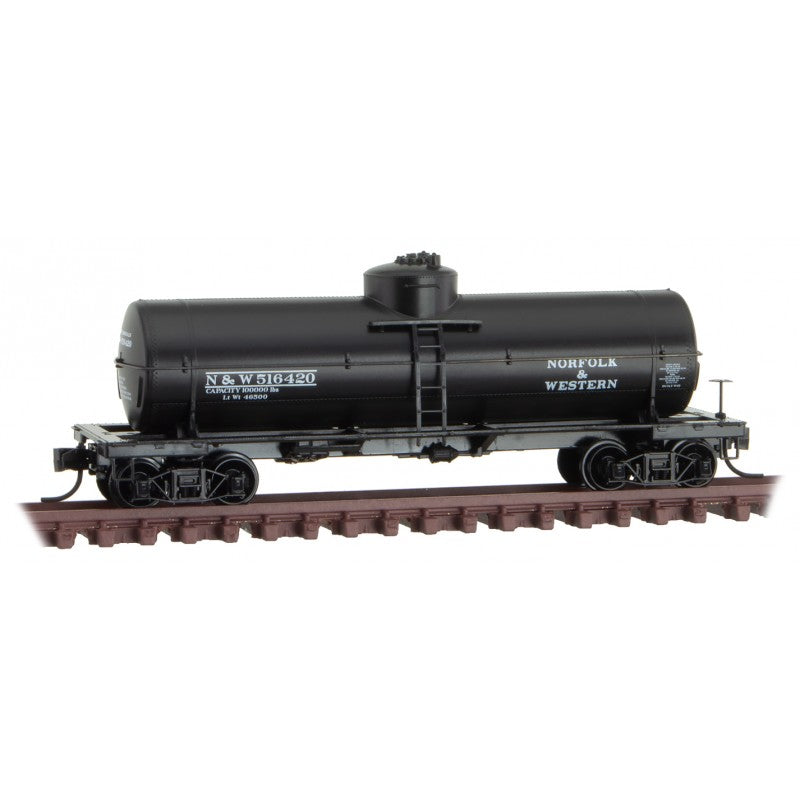N Scale: 39' Single Dome Tank Car - Norfolk & Western