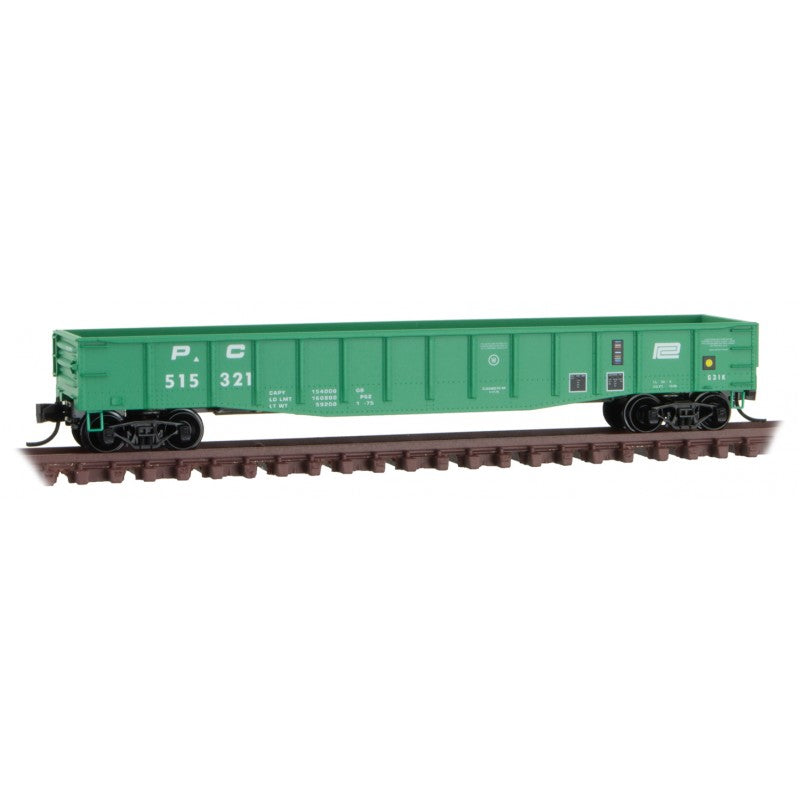 N Scale: 50' Steel Side Gondola - Penn Central