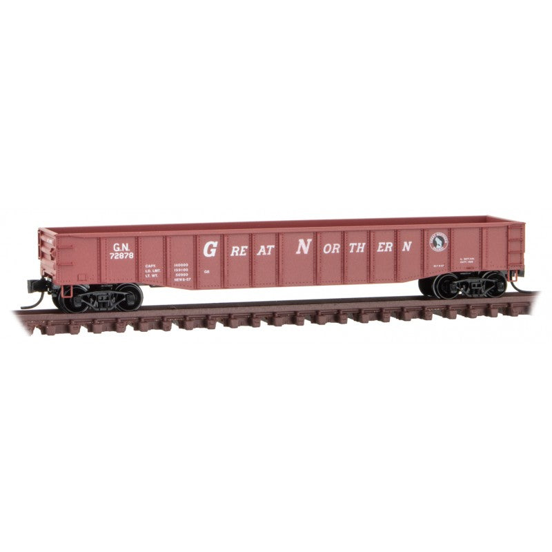 N Scale: 50' Steel Side Gondola - Great Northern