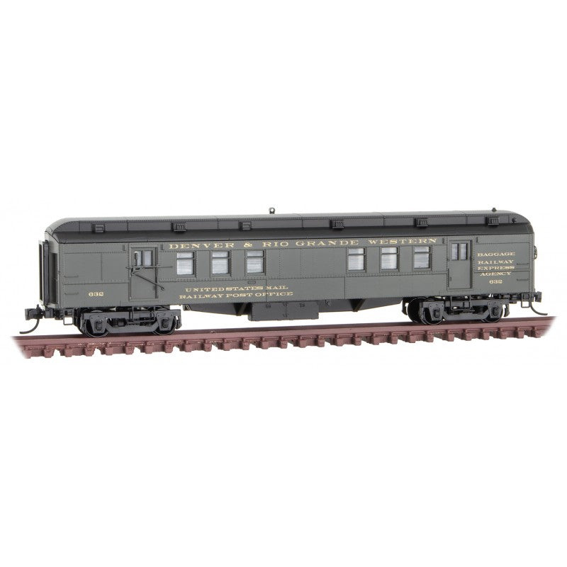 N Scale: RPO Heavyweight Passenger Car - D&RGW