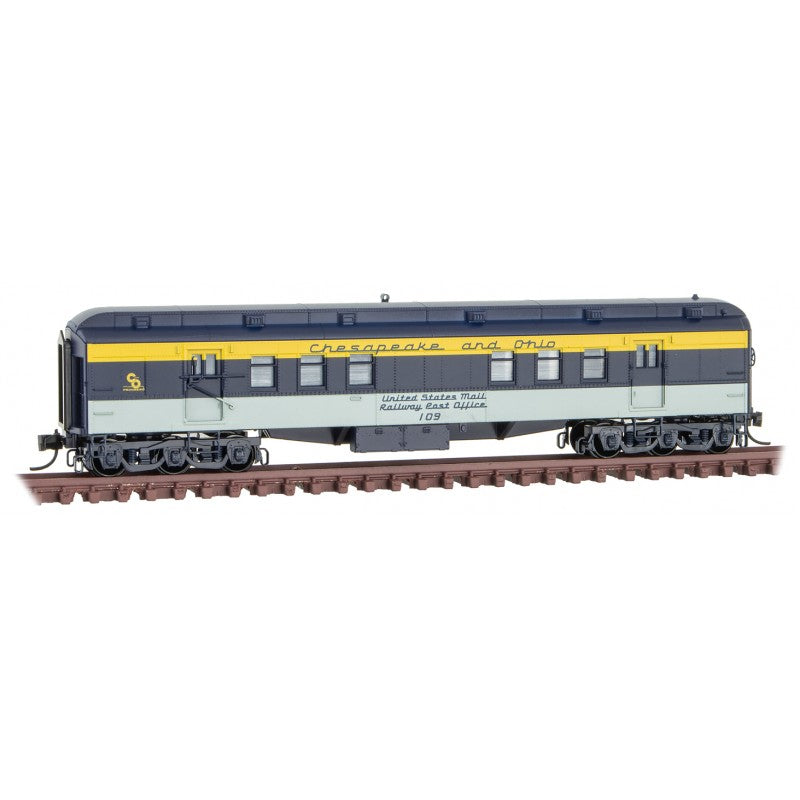 N Scale: RPO Heavyweight Passenger Car - Chesapeake & Ohio