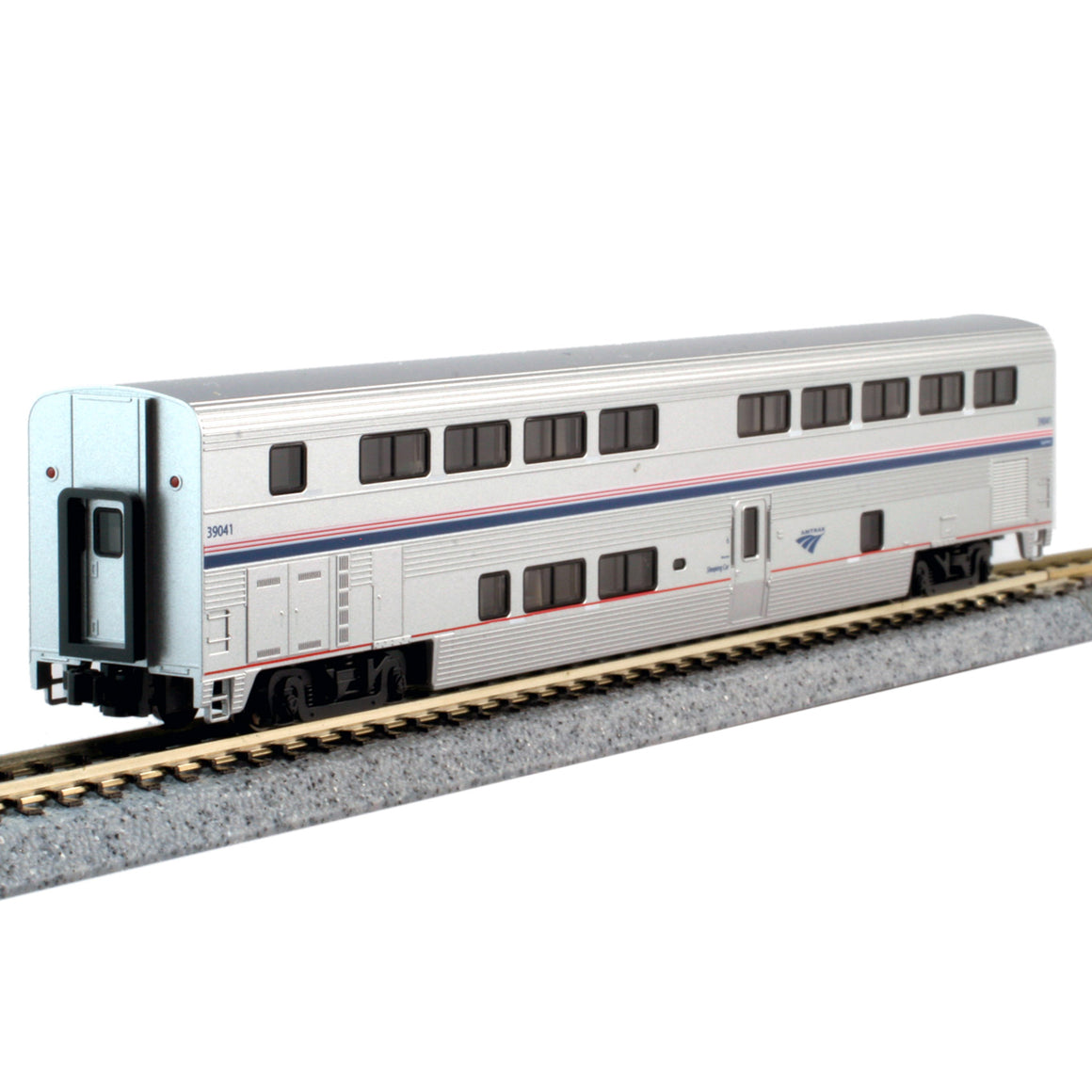 N Scale: Superliner II Transition Sleeper Car w/ Lighting- Amtrak 'Phase VI'