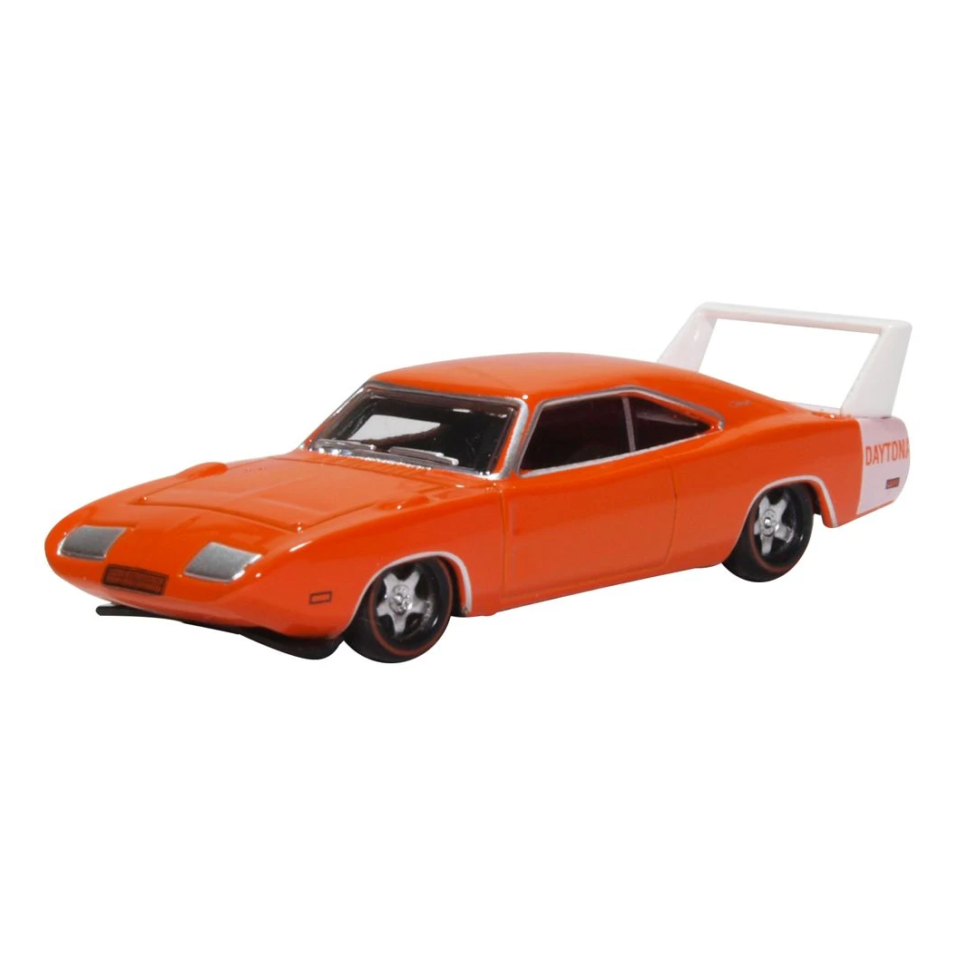 HO Scale: 1969 Dodge Charger Daytona - Orange & White