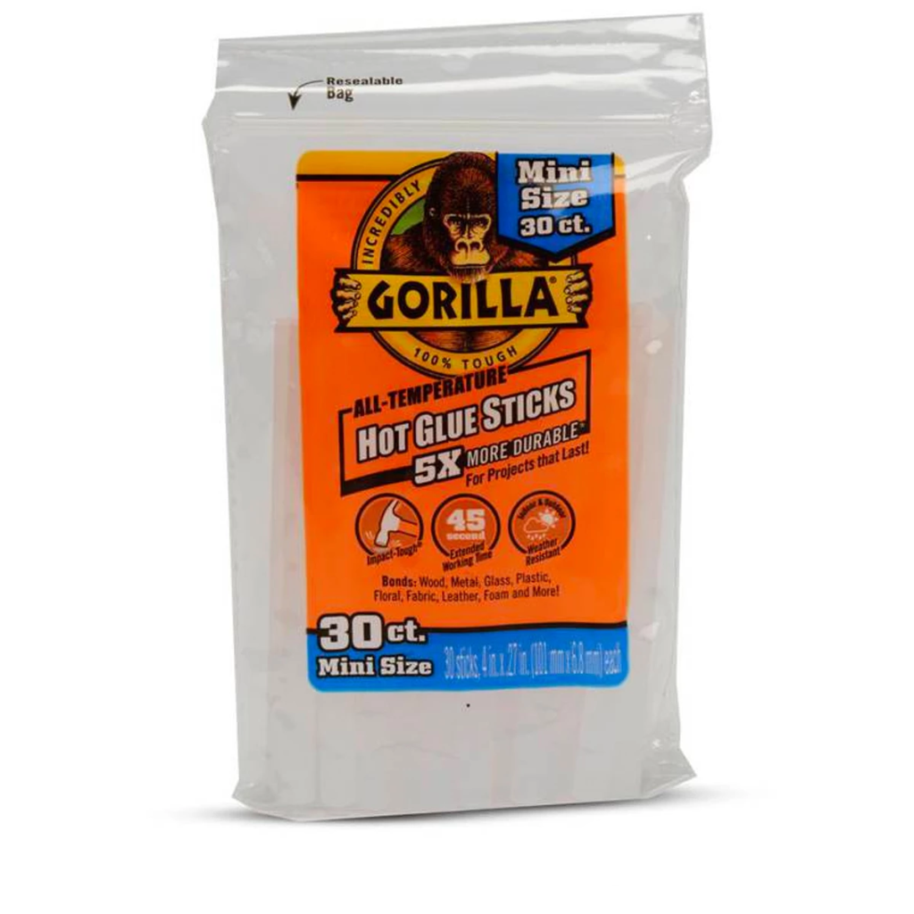 Gorilla Glue: Hot Glue Sticks - Mini Size - 4""