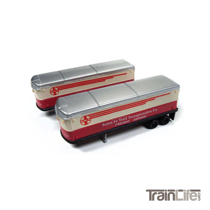 N Scale: Aerovan Trailer - ATSF - 2 Pack