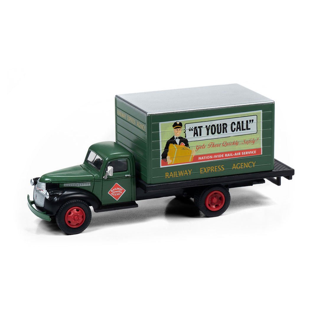 HO Scale: 1941-1946 Chevrolet Box Delivery Truck - Railway Express Agency
