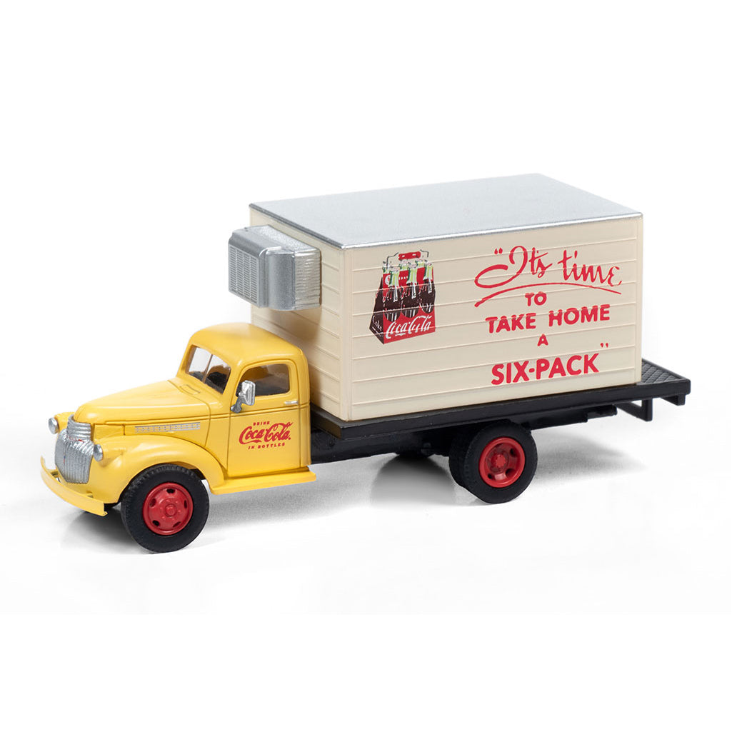HO Scale: 1941-1946 Chevrolet Reefer Delivery Truck - Coca Cola 'Take Home a Six Pack'