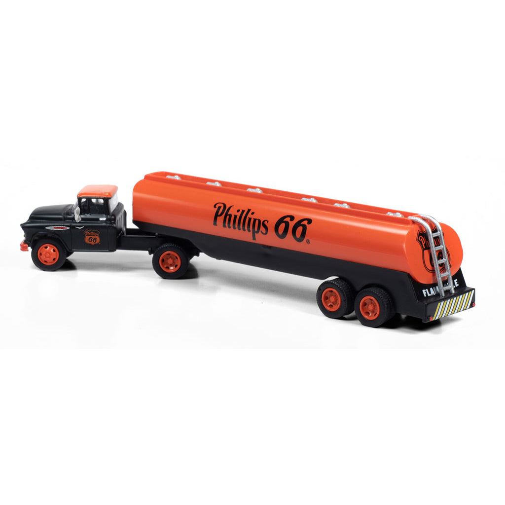 HO Scale: 1957 Chevrolet Tractor with Tank Trailer - Phillips 66