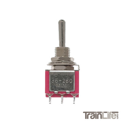 Miniature Toggle Switch - DPDT 5Amp 120V Center Off - 4 Pack
