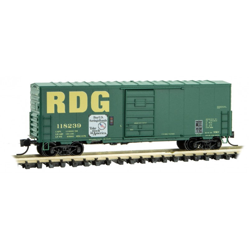 N Scale: 40' Standard Single-Door Box Car - Reading