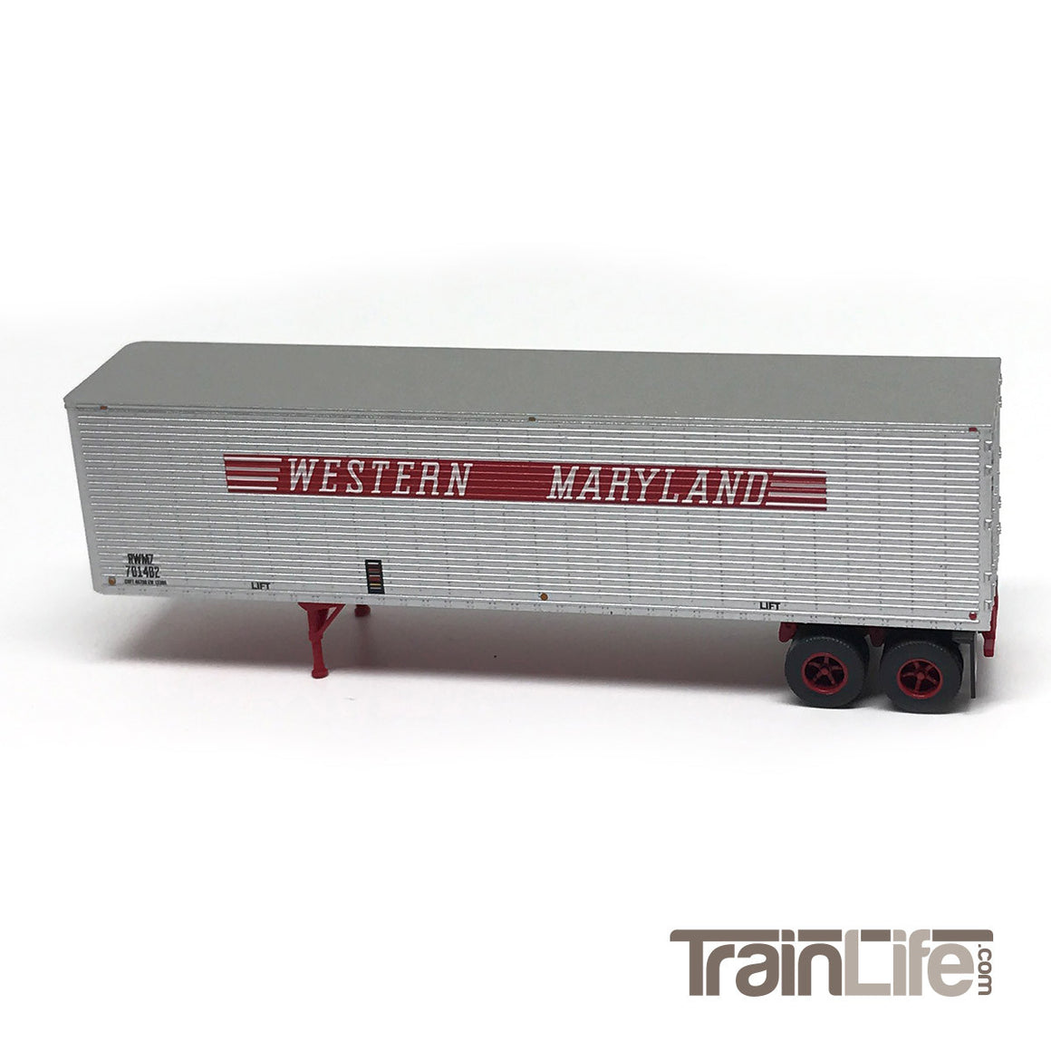 N Scale: 40' Corrugated Trailer - Western Maryland