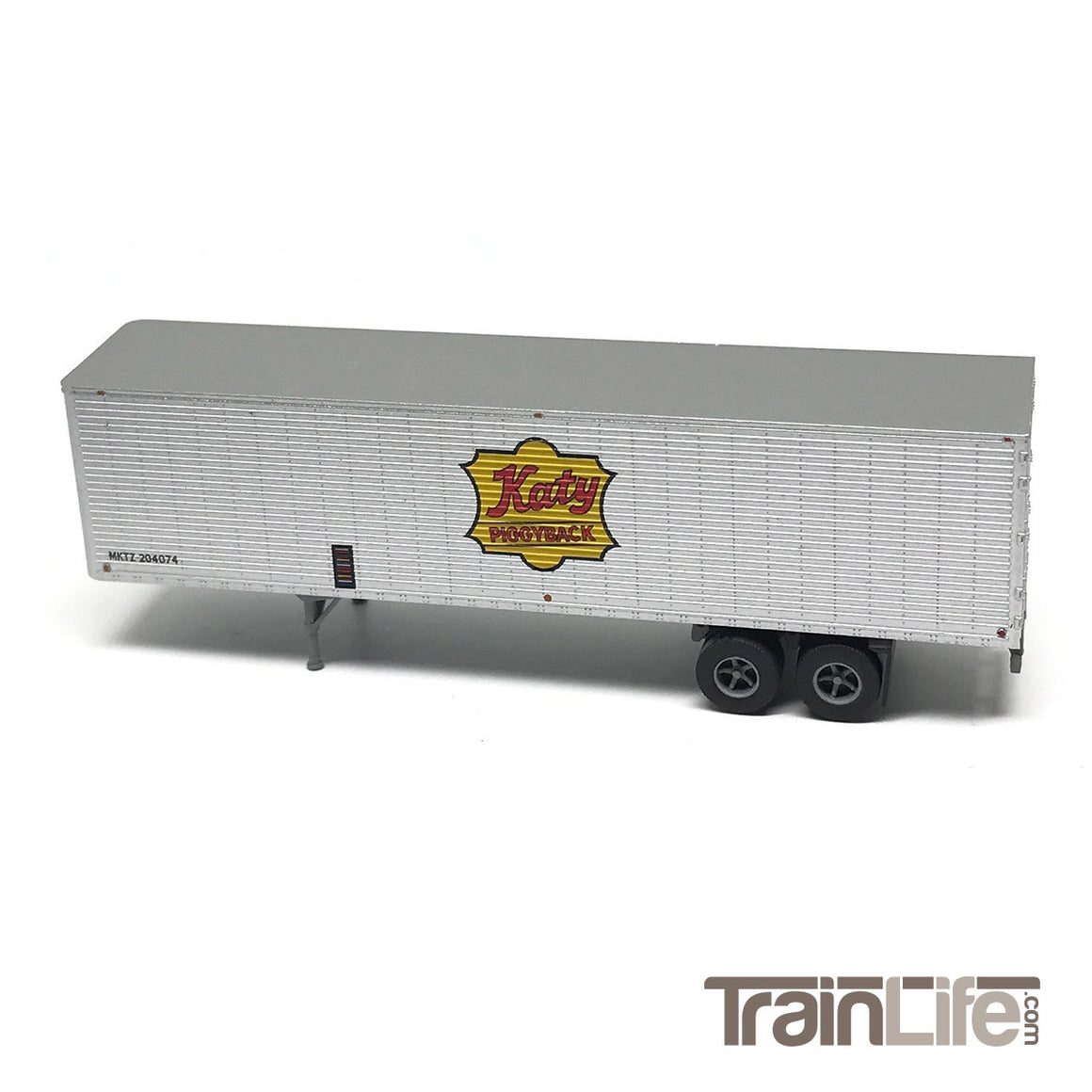 N Scale: 40' Corrugated Trailer - Katy Piggyback
