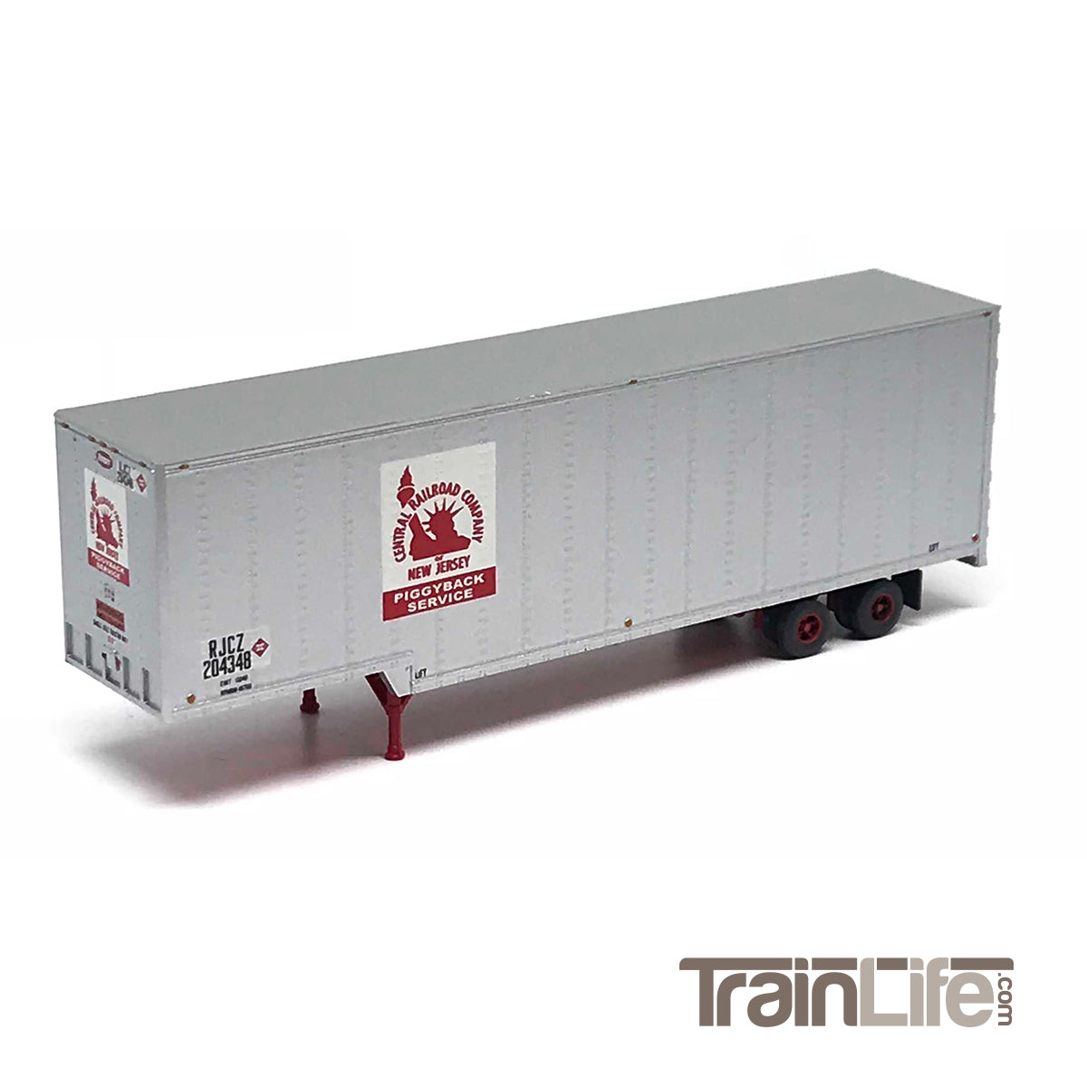 N Scale: 40\' Drop Frame Trailer - Central New Jersey - TrainLife.com