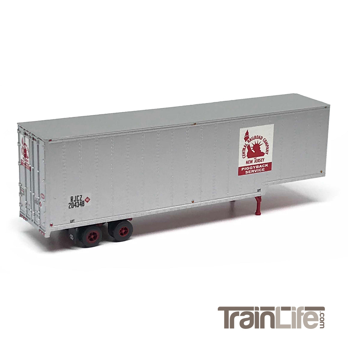 N Scale: 40' Drop Frame Trailer - Central New Jersey