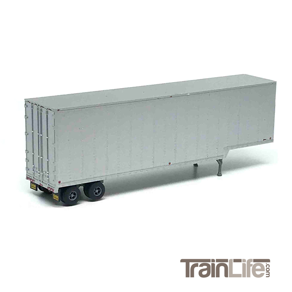 N Scale: 40' Drop Frame Trailer - Brown Unlettered • Aluminum