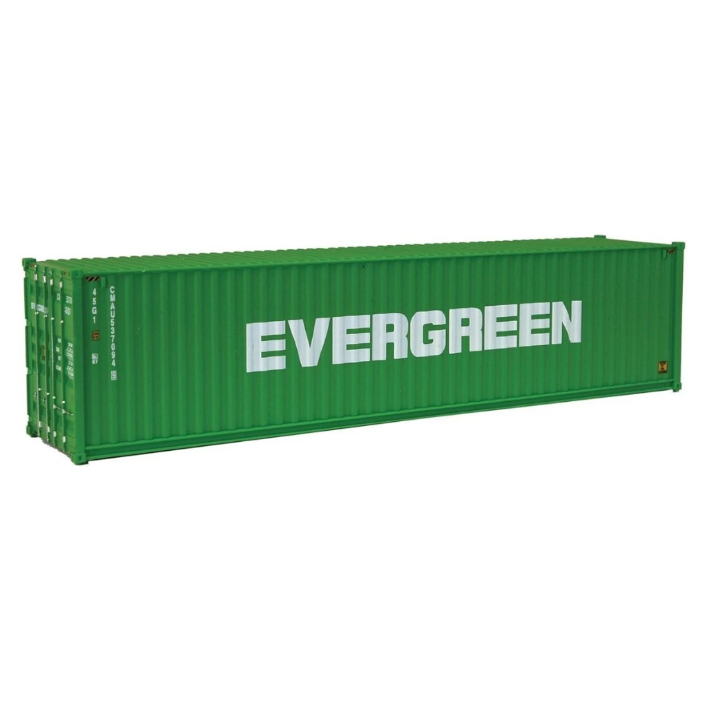 HO Scale: 40' Hi Cube Corrugated Container - Evergreen