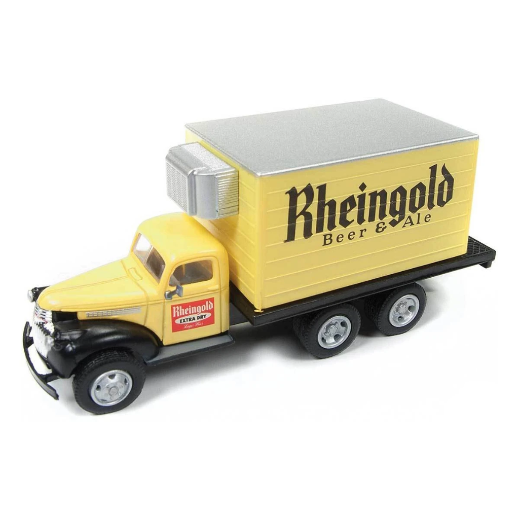 HO Scale: 1941-46 Chevy Box Truck - Rhiengold Beer & Ale