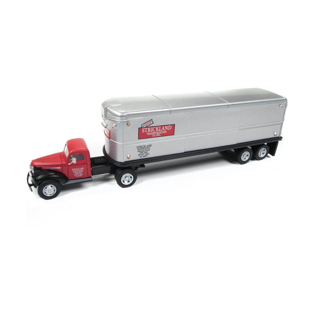 HO Scale: 1941-46 Chevy Tractor/Trailer Set - Strickland Transportation